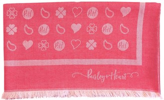 Paisley & Heart Luxury All Season Oblong Wrap Scarf Red