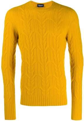 Drumohr cable-knit jumper