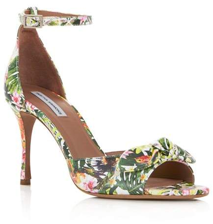 Mimmi Floral Leather High Women's Print Heel Sandals DWIH29YeEb