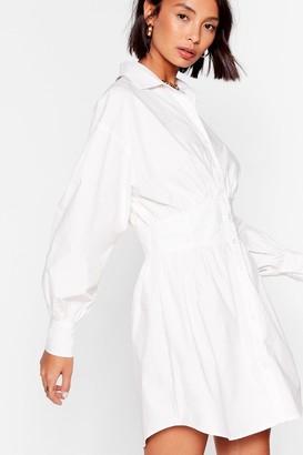 Nasty Gal Womens Corset the Bar High Mini Shirt Dress - White - 12