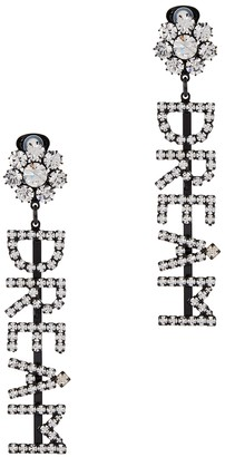 Ashley Williams Dream crystal-embellished clip-on earrings