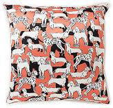 Kate Spade Dog Silk & Cotton Square Feather Pillow