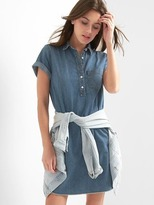 Gap TENCEL denim popover shirtdress