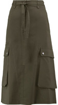 Helmut Lang Belted Cotton Midi Skirt
