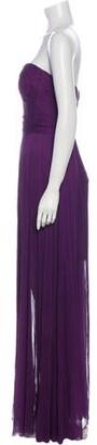 Maria Lucia Hohan Silk Long Dress Purple