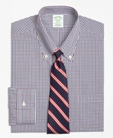 Brooks Brothers Milano Slim-Fit Dress Shirt, Non-Iron Two-Color Gingham