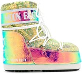 Moon Boot oil slick-effect snow boots