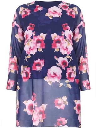 Yumi London Curve Floral Printed Side Split Tunic