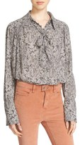 Free People 'Modern Muse' Tie Neck Long Sleeve Blouse