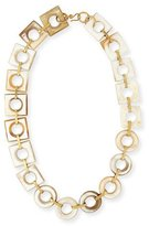 Ashley Pittman Mbele Light Horn Geometric Necklace, 34""