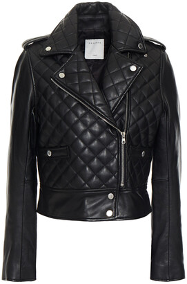 Sandro Quilted Leather Biker Jacket