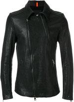 Tom Rebl off-centre zip fastening jacket