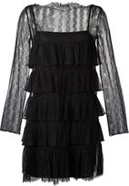 Twin-Set ruffled lace dress - women - Polyamide - 40