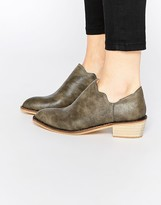 Glamorous Beige Western Style Ankle Boots