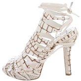 Christian Dior Safari Embossed Sandals
