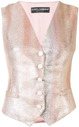 Dolce & Gabbana Gradient Stripe Waistcoat