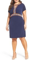 MICHAEL Michael Kors Plus Size Women's Border Print A-Line Dress