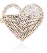 Rosantica Regina Crystal-Embellished Brass Heart Bag