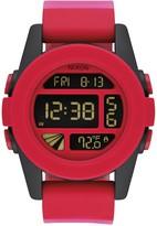Nixon Men's Unit Red Fade Digital Silicone Watch