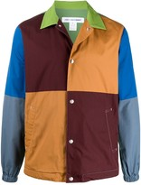 Comme des Garcons colour blocked press stud shirt jacket