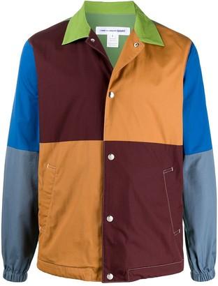 Comme des Garcons Colour Blocked Press Stud Shirt Jacket