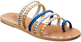 Ancient Greek Sandals Niki Braids Metallic Leather Sandal