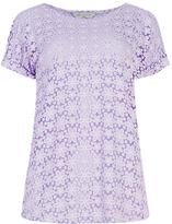 M&s Collection PETITE Floral Burnout T-Shirt