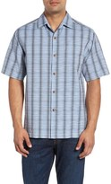 Tommy Bahama Men's Big & Tall Rum Sizzle Plaid Silk & Cotton Camp Shirt