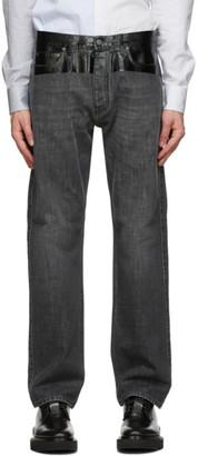 Givenchy Black Glossy Tape Denim Jeans