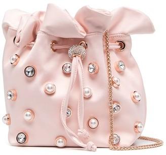 Sophia Webster Embellished Satin Bucket Bag