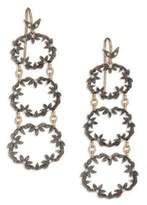 Mizuki Diamond, 14K Yellow & 14K Blackened Gold Link Drop Earrings