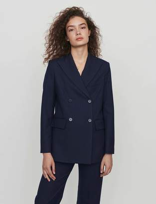 Maje Pinstriped double breasted jacket