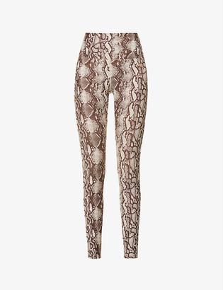 Lorna Jane Viper snakeskin-print stretch-jersey leggings