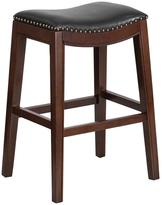 Flash Furniture 30 in. Cappuccino Cushioned Bar Stool