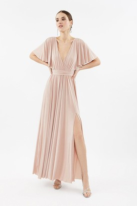 Coast Jersey Flared Sleeve Wrap Maxi Dress