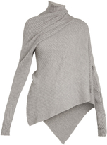 Marques Almeida MARQUES'ALMEIDA High-neck draped ribbed-knit wool sweater