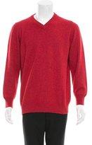 Valentino Long Sleeve V-Neck Sweater