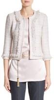 St. John Women's Padmesh Tweed Knit Fringe Jacket