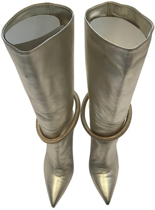 Malone Souliers Gold Leather Boots