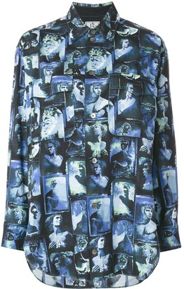 Jean Paul Gaultier Pre Owned Loose Photo Print Shirt