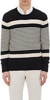 Eidos Men's Striped Sweater-NAVY