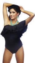 Nicolita Swimwear - Rumba Ruffles Black One-Shoulder One Piece Swimsuit