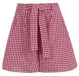 George Girls Red School Gingham Culottes
