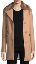 Kate Spade Women's Faux Fur-Trimmed Wool-Blend Coat