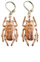 Malia Jewelry Rose Gold Beetle Earrings