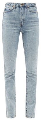 KHAITE Daria High-rise Slim-leg Jeans - Light Denim