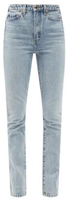 KHAITE Daria High-rise Slim-leg Jeans - Womens - Light Denim