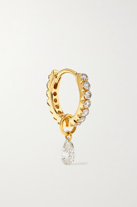 Maria Tash Eternity 8mm 18-karat Gold Diamond Hoop Earring