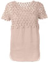 Chloé floral crochet top