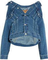 Balenciaga Swing Oversized Denim Jacket - Blue